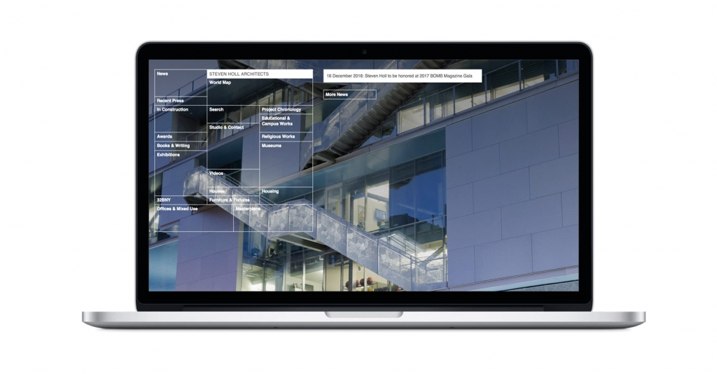 STEVEN HOLL How are the architects websites? Here's a complete overview