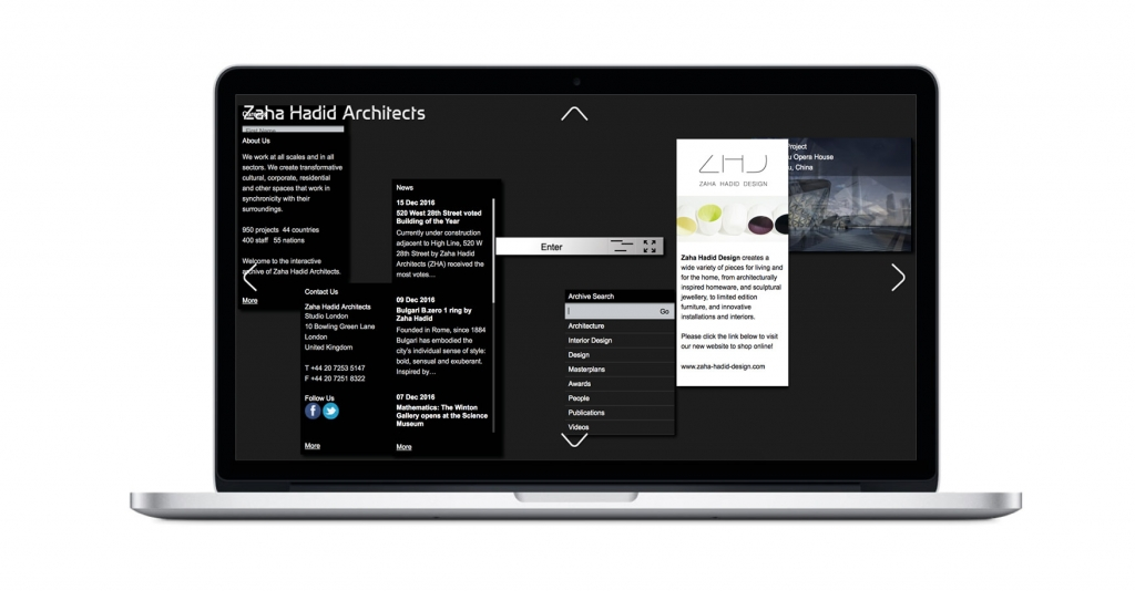 ZAHA HADID How are the architects websites? Here's a complete overview